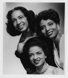 Duke Ellington Singers: Maria Ellington, Joya Sherrill  Kay Davis. Photograph by Bruno of Hollywood c.1944