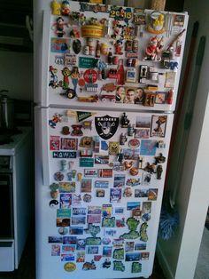 Vintage refrigerator magnets.