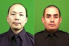 NYPD Officers Wenjian Liu and Rafael Ramos sitting in their patrol car in Brooklyn were shot at point-blank range and killed on Saturday afternoon by a man who, officials said, had traveled to the city from Baltimore vowing to kill officers.