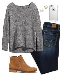 """""""fall sets!"""" by mmorgann ❤ liked on Polyvore featuring American Eagle Outfitters, H&M, Kate Spade, LifeProof and Lucky Brand"""