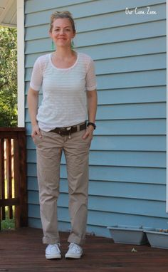 What I Wore Wednesday-- Boyfriend Chinos - Our Cone Zone