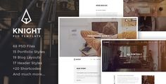 Knight - Corporate and Shop PSD Template . Knight has features such as High Resolution: Yes, Layered: Yes, Minimum Adobe CS Version: CS4, Pixel Dimensions: 1920x8702