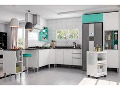 Cozinha Completa Líder Casa Aroma com Balcão - 8 Portas 3 Gavetas com as melhores condições você encontra no Magazine Mulhergold. Confira!