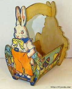 """Topper Toys"" Eastertide Basket with Easter Bunny Rabbit. Easter Toys, Hoppy Easter, Easter Bunny, Vintage Easter, Vintage Holiday, Easter Parade, Easter Celebration, Kawaii, Easter Baskets"