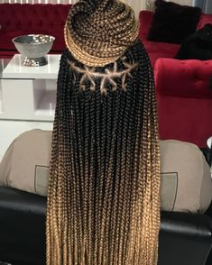 Box braids hairstyle is one of the best protective hairstyles for men and women. Braids are perfect for natural hair and relaxed hair types Box Braids Hairstyles, Black Girl Braided Hairstyles, Black Girl Braids, Braids For Black Hair, Girls Braids, Black Women Hairstyles, Cool Hairstyles, Best Braid Styles, Long Hair Styles