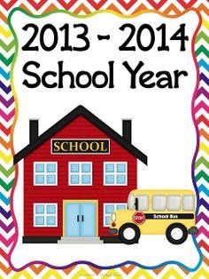 Fun in First Grade: Free 2013-2014 Calendars
