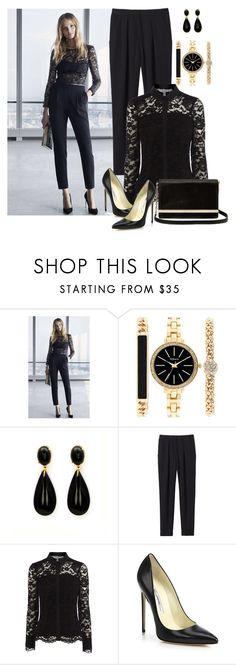 """Lace blouse"" by alisha-666 ❤ liked on Polyvore featuring Style & Co., Rebecca Taylor, Coast, Brian Atwood and Diane Von Furstenberg"