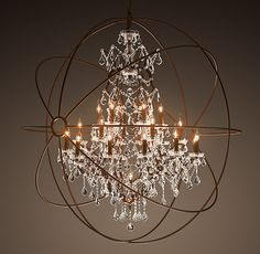 Orb Clear Crystal Chandelier