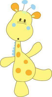 Girafa para imprimir em quadrinho de quarto infantil
