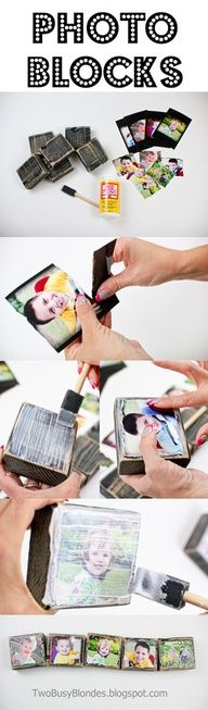 PHOTO BLOCKS!! Fun, creative way to display photos