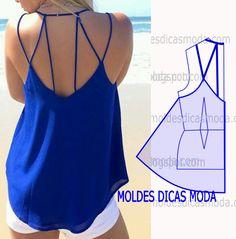 A pedido de algumas seguidoras hoje vou abordar alguns detalhes modelagem de costas de blusa. Este trabalho parece complexo mas é muito simples.