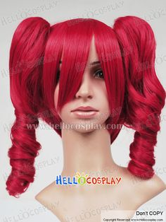 Vocaloid 2 Cosplay Kasane Teto Red Curly Wig