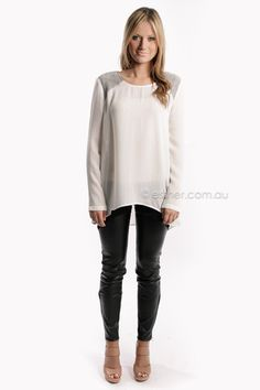 finders keepers tiny dancer long sleeve top - white