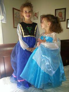 Princess Anna & Elsa inspired dresses