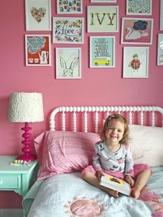 """One South Dakota mom painted her daughter's bedroom in Amaryllis by Sherwin-Williams. She said it """"totally made the space."""""""