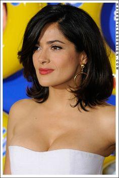 Selma Hayek; love her hair like this too