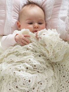 Fluffy Meringue Blanket   Yarn   Free Knitting Patterns   Crochet Patterns   Yarnspirations...A beautiful vintage style blanket fit for a prince or princess!...free pattern!