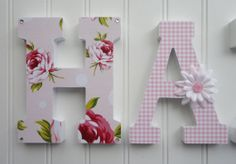 Wall Letters Nursery Wall Decor Wooden Letters by fabbdesigns, $12.00