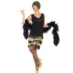 Déguisement charleston Femme - noir or - Kiabi - 40 154db3e11905