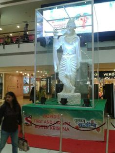 World's first and largest Lord Krishna Statue made of White Butter on display in Mumbai, India