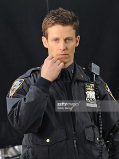 Wil Estes on the set of 'Blue Bloods' on April 2014 in New York City. Blue Bloods, Jamie Reagan, Love Blue, My Love, New York City Pictures, Police Uniforms, April 3, Chicago Pd, Men In Uniform