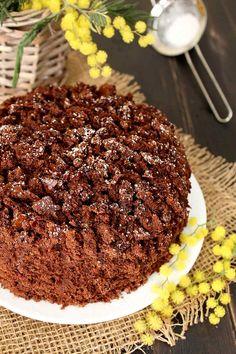 Torta mimosa al cioccolato vegan Vegan Desserts, Vegan Recipes, Sweet Bread, No Bake Cake, Baking, 3, Breads, Cakes, Party