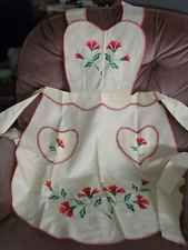 Vintage Gorgeous Hand Made and Embroidered Apron