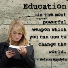 Education is powerful weapon to change the world pic quote page