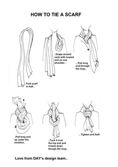 How to tie a scarf to a knot . How to tie a scarf . How to tie a scarf to a knot … How to tie a scarf to a knot … Fashion Mode, Fashion Beauty, Fashion Outfits, Fashion Tips, Ways To Wear A Scarf, How To Wear Scarves, Tie Scarves, Scarf Knots, Scarf Styles