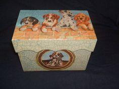 Caixa de madeira organizadora p presente