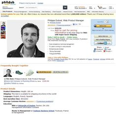 Philippe Dubost... un cv sous forme de page amazon #emploi #cvoriginal #amazon