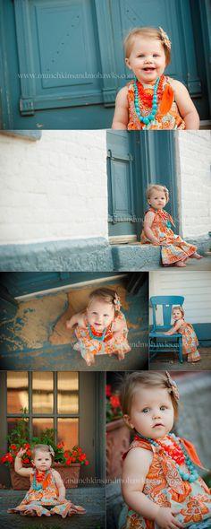 One year old little girl www.munchkinsandmohawks.com/blog