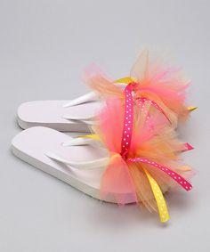 Sweets 04 Sunburst Ribbon Flip-Flops | zulily