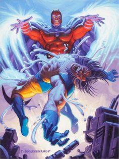 comicbookartwork:  Magneto and Wolverine by Tim Hildebrandt
