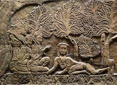 Damodara lila,  Vrah Vishnuloka temple (Angkor Wat), Cambodia