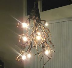 DIY Rustic Chandelier - excellent instructions and sources. I think I would like to do this in the dining room.