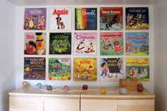 fun for kids room, classic records on the wall :) Old Records, Vintage Records, Retro Record Player, Baby Decor, Bambi, Album Covers, Playroom, Room Decor, Room Art