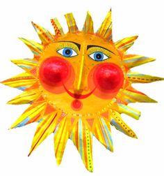 Weiteres - Sonne , Durchmesser ca.49 cm, Pappmache - ein Designerstück von villaazula bei DaWanda
