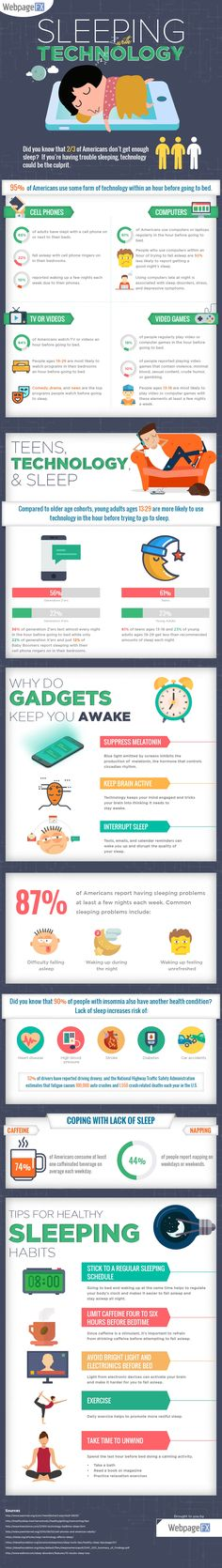 The Harmful Effects of Sleeping With Technology [Infographic] - the way technology not only impacts your sleep quantity and quality, but also causes addiction is a concern we should address earlier than later