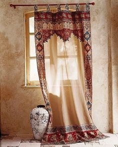 Moroccan Decor, light neutral colors with just a splash of bright colors - Home Stuff - Curtain Moroccan Interiors, Moroccan Decor, Moroccan Style, Moroccan Curtains, Bohemian Curtains, Moroccan Bedroom, Western Curtains, Moroccan Lanterns, Deco Boheme Chic