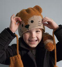 Modèle bonnet raton-laveur enfant - Modèles tricot enfant - Phildar