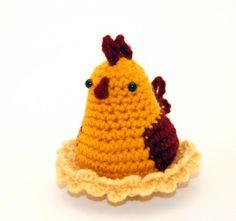 Crochet Pattern Amigurumi Chicken Mrs Chickle by Yarnington, $3.50