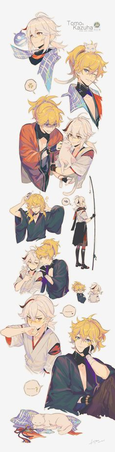 Shounen Ai Anime, Fanarts Anime, Anime Characters, Anime Boy Sketch, Anime Family, Thing 1, Albedo, Kawaii, Fun Comics