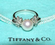 Tiffany & Co. Fireworks Pearl and Diamond Ring
