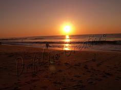 My husband sunrise surfing