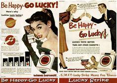 Anuncio retro de Lucky Strike 1 | Wallpaper vintage - Imágenes Para Compartir SaGiTaRioXP