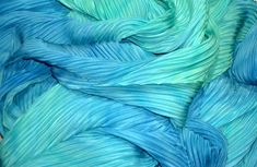 blue pleats