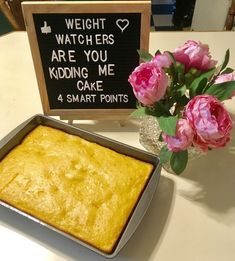 Are you kidding me cake Weight Watchers Style - The Staten Island family Low Calorie Desserts, Ww Desserts, Sugar Free Desserts, Low Calorie Recipes, Dessert Recipes, Healthier Desserts, Weight Watchers Cake, Weight Watchers Smart Points, Weight Watchers Desserts