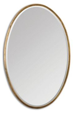 This classic oval-shaped mirror features a narrow, hand-forged metal frame finished in heavily antiqued, plated gold. Mirror is beveled and may be hung horizontal or vertical. Mirror Art, Wall Mirrors, Blue Powder Rooms, Forging Metal, Wall Accessories, Bath Fixtures, Gold Walls, Dream Decor, Kings Lane