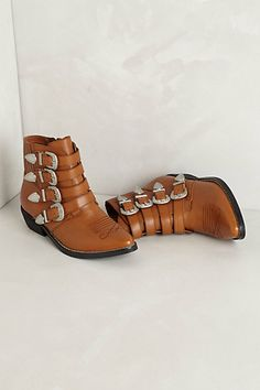 Aldridge Buckle Booties #anthropologie
